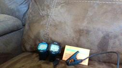 Lot of Two Timex Marathon GPS Running Watchs w/ USB Charger