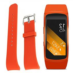 Kiorc Luxury Silicone Watch Replacement Strap for Samsung Ge