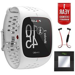 Polar M430 GPS Running Watch, White  + Bally Total Fitness B