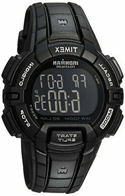 Timex Men's T5K793 Ironman Rugged 30 Full-Size Black Resin S