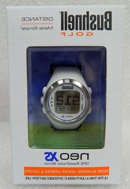 Bushnell NEO XS Golf GPS Rangefinder Watch, White/Blue