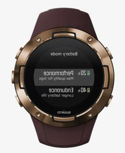 NEW! Suunto 5 Burgundy Copper - Compact GPS sports watch wit
