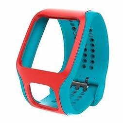 NEW TomTom Comfort Strap BLUE/RED for Runner/Multi-Sport GPS