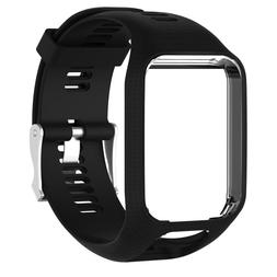 NEW CUS Silicone Replacement Band Wrist Strap For TomTom Run