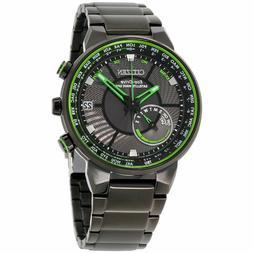 NEW Citizen Eco-Drive CC3035-50E GPS World Time Green Black