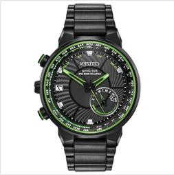 New Citizen Eco Drive GPS Wave World Time Stainless Steel Me