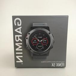 New Garmin Fenix 5X SAPPHIRE SLATE GPS Sport Running Smart W