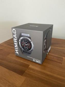 NEW! Garmin Fenix 5X Slate Gray Sapphire with Black Band GPS