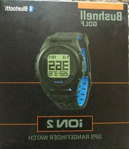 New Bushnell iON 2 Golf GPS Watch Black/Blue Free Shipping