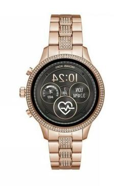 NEW MICHAEL KORS RUNWAY Smart Watch ACCESS Rose Gold Pave To