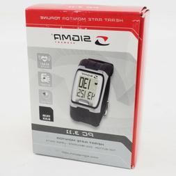 New! Sigma PC 3.11 Heart Rate Monitor Watch Black