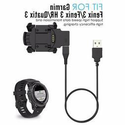 NEW USB Data Charger Dock Cable For Garmin Fenix 3 HR Quatix