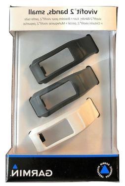 New Garmin Vívofit 2 Wrist Bands Small Black Slate White