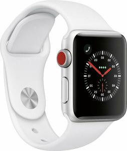 NEW Apple Watch Series 3 38mm GPS + Cellular Watch Silver Wh