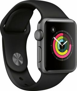 NEW Apple Watch Series 3 38MM GPS Space Gray Aluminum Case w