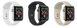 New Apple Watch Series 4 40mm Aluminium & Black White Sport