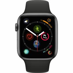 NEW APPLE WATCH SERIES 4 44MM GPS SPACE GRAY ALUMINUM CASE B