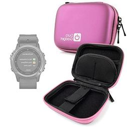 DURAGADGET Premium Quality Pink Hard EVA Shell Case with Car