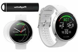 Polar Ignite Fitness GPS Watch Power Bundle White-Silver M/L