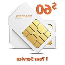 $60 SIM Card for GSM GPS Tracker Pet Senior Kid Child Car Sm
