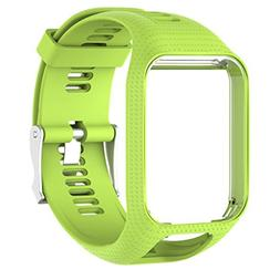 Binmer Replacement Silicone Band Strap For TomTom Spark 2/ 3