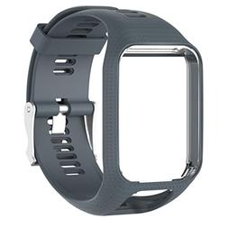 Kanzd Replacement Silicone Band Strap For tomtom Runner 2/3