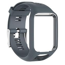 Owill Replacement Silicone Band Strap Frame For Tom Tom Spar