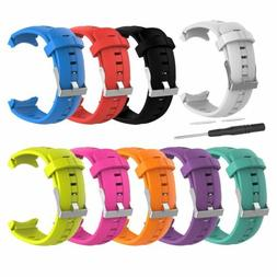 Replacement Silicone Wrist Band Strap + Tool for SUUNTO SPAR