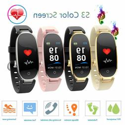 S3 Plus Women Waterproof Smart Watch Lady Fitness Calorie Tr