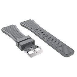 Kiorc Silicone Watch Band Replacement Band Strap for Samsung