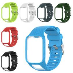 Silicone Watch Wrist Band Strap Bracelet For TomTom Runner 2