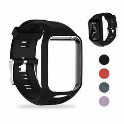 Silicone Wrist Band Strap Bracelet Replacement for TomTom Ru