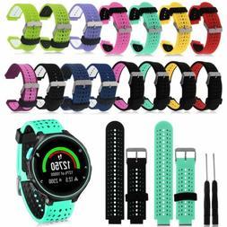 Silicone Wrist Band Strap For Garmin Forerunner 220 230 235