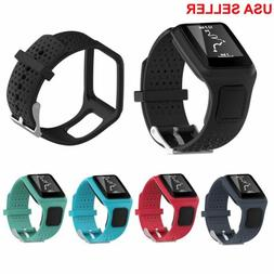 Silicone Wrist Band Strap For TomTom Multi-Sport GPS Watch /