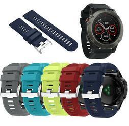 Silicone Wrist Band Strap W/Buckle for Garmin Fenix 5X GPS W