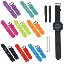 Silicone Wrist Watch Band Strap For Garmin Forerunner 220 23