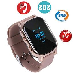 Hangang Kids Smart Phone Watch, GPS Kids Tracker with Touch