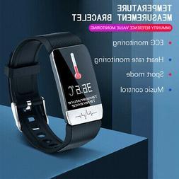 Smart Watch +ECG Blood Oxygen Pressure Heart Rate Body Tempe