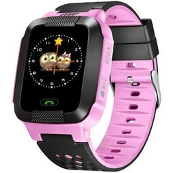 Smart Watch Touch Phone Call Kids GPS Location Tracker- For