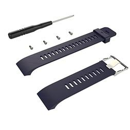 Wearable4U Soft Adjustable Silicone Replacement Watch Band f