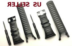 Soft Black Rubber Replacement Watch Band Strap For Ambit 3 P