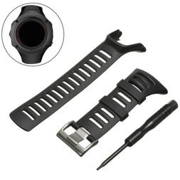 soft black rubber replacement watch band strap
