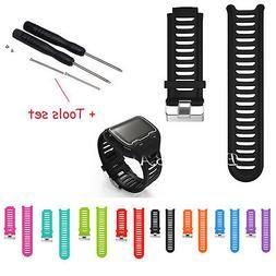 Sports Silicone Watch Band Strap for Garmin Forerunner 910XT