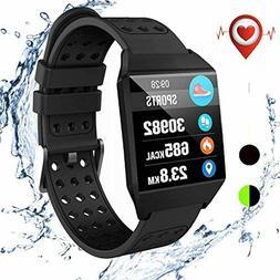 Sports Smart Watch Waterproof Bluetooth Heart Rate Monitor R