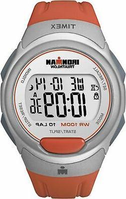 Timex Men's T5K611 Ironman Traditional 10-Lap Orange Resin S