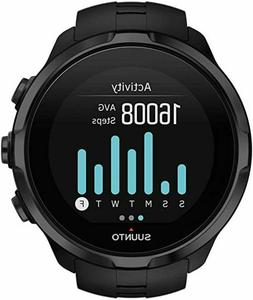 Titanium Multi Sport GPS Watch, Heart Rate Monitor, Black, O