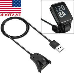 For TomTom 2/3 Runner Golfer 2 GPS Watch USB Charger Clip Ch