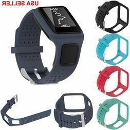 TPE Wristband Strap +PC Holder For TomTom 1 Runner Cardio /M
