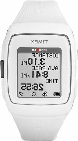 Timex Unisex TW5M11900 Ironman GPS White Silicone Strap Watc