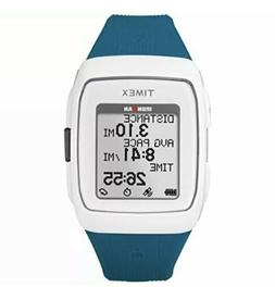 Timex Unisex TW5M12000 Ironman GPS White/Teal Silicone Strap